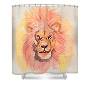 Lion Orange Shower Curtain