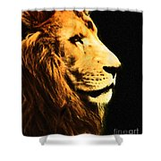 Lion Paint 2 Shower Curtain
