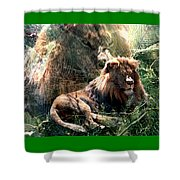 Lion Spirit Shower Curtain