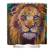 Lion Stare Shower Curtain