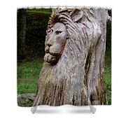 Lion Tree Shower Curtain