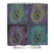 Lion X 4 Color  By Jrr Shower Curtain