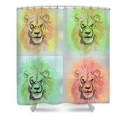 Lion X 4  Shower Curtain