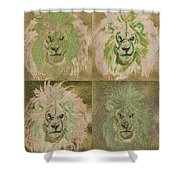 Lion X 4 One Shower Curtain