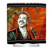 Lionel In Red Shower Curtain