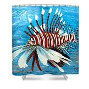 Lionfish IIi Shower Curtain