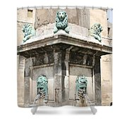 Lionfountain - Part Of The Obelisk - Arles Shower Curtain