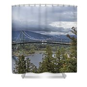 Lions Gate Bridge From Stanley Park Shower Curtain