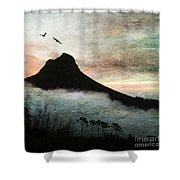 Lion's Head Cape Town Shower Curtain