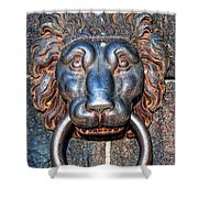 Lions Head Knocker Shower Curtain