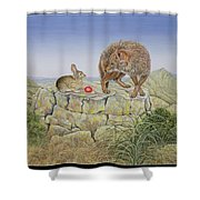 Lions Hotel Shower Curtain