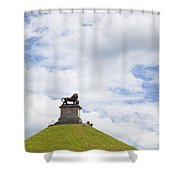 Lions Mound Memorial To The Battle Of Waterlooat Waterloo Belgium Europe Shower Curtain by Jon Boyes