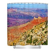 Lipan Point View On East Side Of South Rim Of Grand Canyon-arizona   Shower Curtain