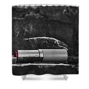 Lipstick - Bw  Shower Curtain