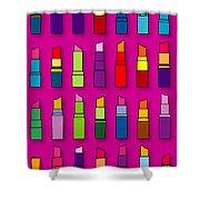 Lipsticks Pattern Shower Curtain