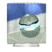 Liquid Drop Shower Curtain