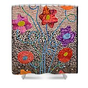 Liquid Flowers Shower Curtain