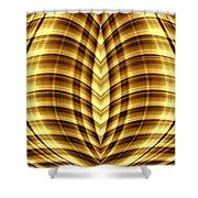 Liquid Gold 3 Shower Curtain