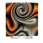 Liquid Mercury And Rust 2 Shower Curtain