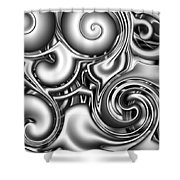 Liquid Metal Shower Curtain