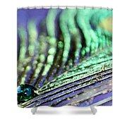 Liquid Peacock Shower Curtain