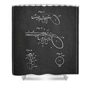 Liquid Pistol Patent Shower Curtain