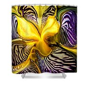 Liquified Orchid Shower Curtain