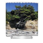 Den Of The Coastal Bigfoot Shower Curtain