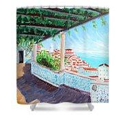 Lisbon Alfama With Atlantic Ocean Shower Curtain