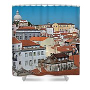 Lisbon Alfama District Shower Curtain