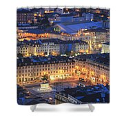 Lisbon At Night Portugal Shower Curtain