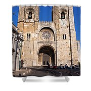 Lisbon Cathedral In Portugal Shower Curtain