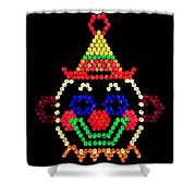 Lite Brite - The Classic Clown Shower Curtain