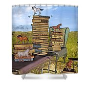 Literary Levels Shower Curtain