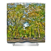 Literary Walk In Central Park Shower Curtain