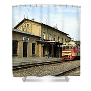 Lithuania. Silute Train Station. 2008 Shower Curtain