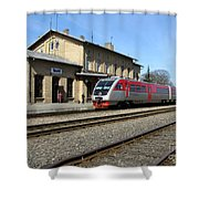 Lithuania. Silute Train Station. 2009 Shower Curtain
