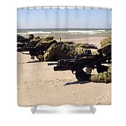 Lithuanian Special Forces Members Lie Shower Curtain