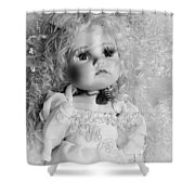 Little Angel In Black And White Shower Curtain
