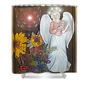 Little Angle  Shower Curtain