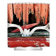 Little Antlers 2 Shower Curtain