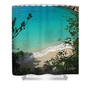 Little Bay Latitude Shower Curtain