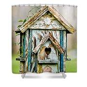 Little Birdhouse Shower Curtain