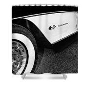 Little Black Corvette Palm Springs Shower Curtain