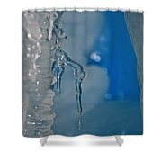 Little Blue Icicle Shower Curtain