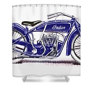 Little Blue Indian Shower Curtain