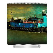 Little Blue Tug - New York City Shower Curtain