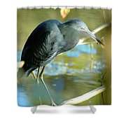 Little Blue View Shower Curtain
