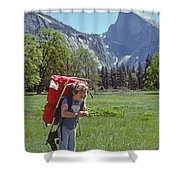 Mp-441-little Boy Big Pack  Shower Curtain