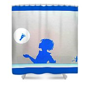 Little Boy Blue Has Lost His Shoe Shower Curtain